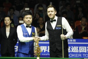 Ding Junhui and Ricky Walden